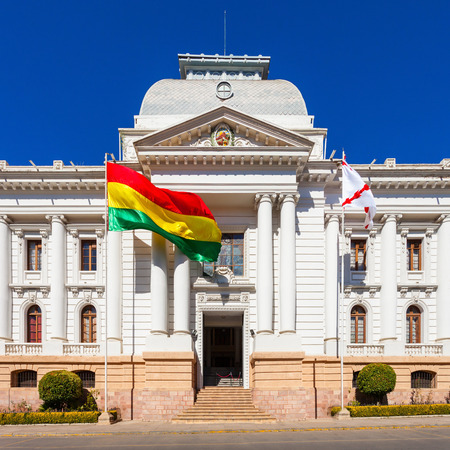 Supreme Court Of Bolivia In Sucre is located in Sucre, the constitutional capital of Bolivia Stock Photo