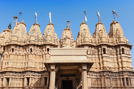 Jain Temple in Jaisalmer Fort, Rajasthan state in India