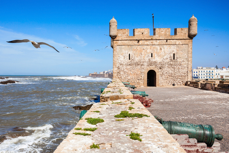 Skala du Port fortifications in Essaouira, Morocco. Essaouira is a city in the western Moroccan region on the Atlantic coast.