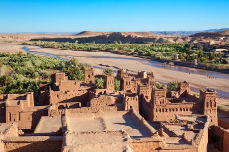 Ait Ben Haddou is a fortified city near ouarzazate in Morocco. Foto de archivo
