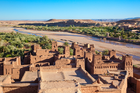 Ait Ben Haddou is a fortified city near ouarzazate in Morocco. 版權商用圖片