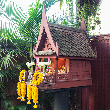 The Jim Thompson House is a museum in Bangkok, Thailand Stock Photo