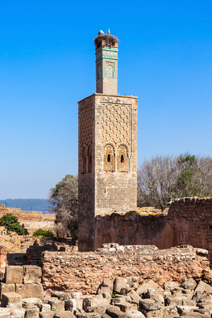 Chellah or Sala Colonia is a medieval fortified necropolis located in Rabat, Morocco. Rabat is the capital of Morocco. Imagens - 92618283