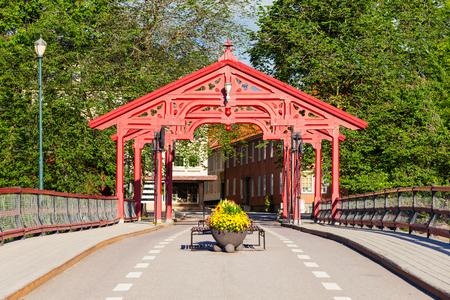 Old Town Bridge or Gamle Bybro or Bybroa is a bridge crosses Nidelva River in Trondheim, Norway