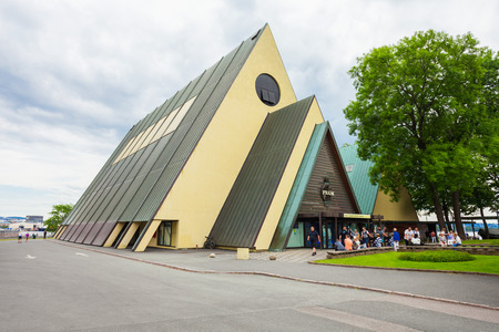 OSLO, NORWAY - JULY 21, 2017: The Fram Museum or Frammuseet is a museum of Norwegian polar exploration. Fram Museum located on Bygdoy peninsula in Oslo, Norway.