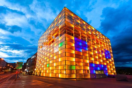 LINZ, OOSTENRIJK - MEI 14, 2017: Het Ars Electronica Center of AEC is een centrum voor elektronische kunsten gerund door Ars Electronica in Linz, Oostenrijk.