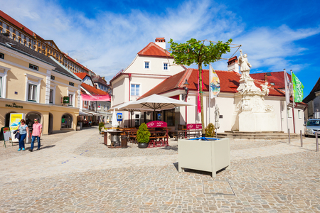 MELK, AUSTRIA - MAY 14, 2017: Street in Melk city centre. Melk is a city in the Lower Austria, next to the Wachau valley along the Danube river.