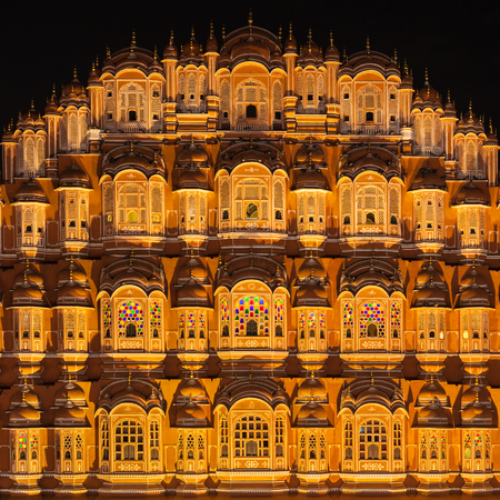 Hawa Mahal palace (Palace of the Winds), Jaipur, Rajasthan Stock Photo