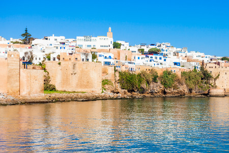 The Kasbah of the Udayas fortress in Rabat in Morocco. The Kasbah of the Udayas is located at the mouth of the Bou Regreg river in Rabat, Morocco.