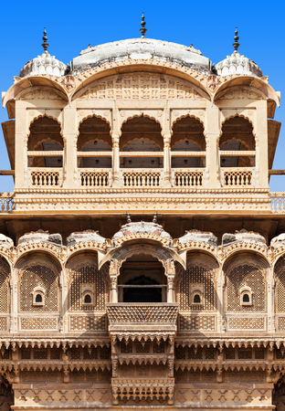 Patwon ki Haveli in Jaisalmer, Rajasthan state in India