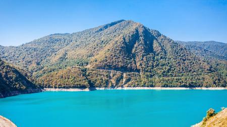 Inguri reservoir in Upper Svaneti region, Georgia