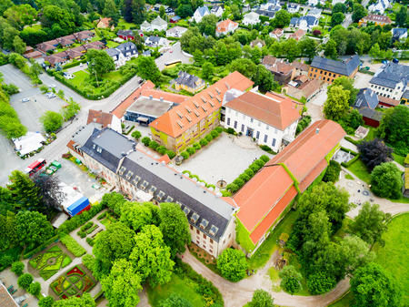 Norwegian Museum of Cultural History or Norsk Folkemuseum aerial panoramic view, located at Bygdoy peninsula in Oslo, Norway Editorial