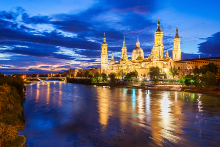 The Cathedral Basilica of Our Lady of the Pillar is a Roman Catholic church in the city of Zaragoza in Aragon region of Spain