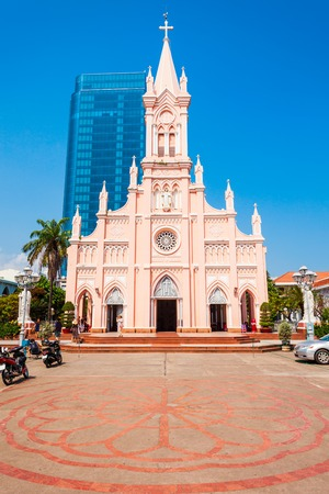 Da Nang Cathedral is a catholic church in Danang city in Vietnam 免版税图像