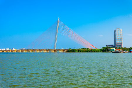 Cau Nguyen Van Troi Tran Thi Ly Bridge is a bridge spanning the Han River in Danang city in Vietnam