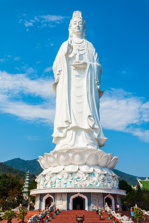 Lady Buddha statue at the Linh Ung Pagoda in Danang city in Vietnam