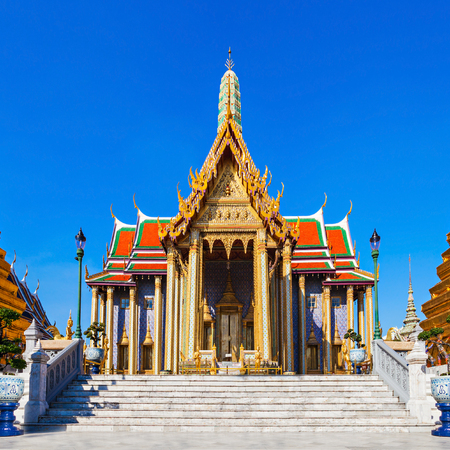 Wat Phra Kaew (Temple of the Emerald Buddha) is regarded as the most sacred Buddhist temple in Thailand