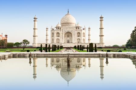 Taj Mahal in sunrise light, Agra, India Banque d'images