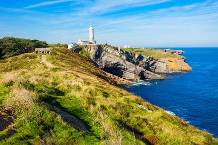 Faro Cabo Mayor lighthouse in Santander city, Cantabria region of Spain
