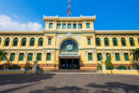 Saigon Central Post Office is a post office in the downtown Ho Chi Minh City or Saigon in Vietnam