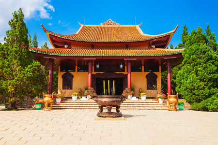 Truc Lam Temple is a Zen Buddhist temple and monastery in Dalat city in Vietnam