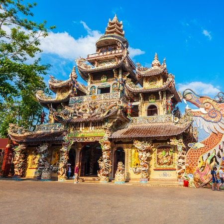 Linh Phuoc Pagoda or Ve Chai Pagoda is a buddhist dragon temple in Dalat city in Vietnam
