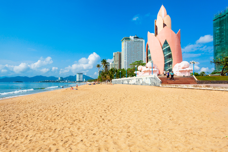 Nha Trang city beach is a public beach located in the centre of Nha Trang in Vietnam Фото со стока