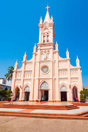 Da Nang Cathedral is a catholic church in Danang city in Vietnam Фото со стока