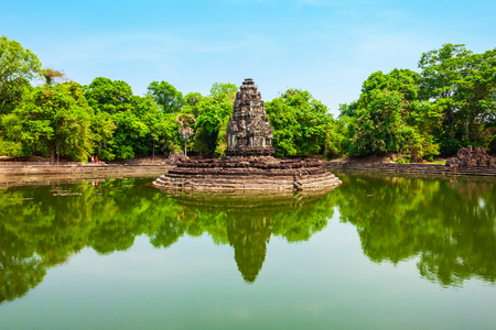 Neak Pean is a temple at Angkor in Siem Reap in Cambodia