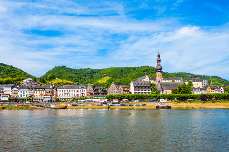 Cochem old town and Mosel river in Germany Standard-Bild