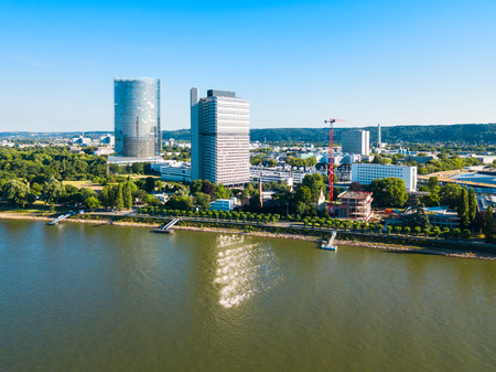 Bundesviertel federal government district aerial panoramic view in Bonn city in Germany Stock fotó