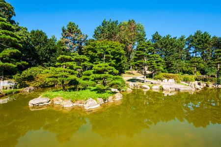 Japanese Garden in Nordpark is a public green area in the Stockum district in Dusseldorf city in Germany