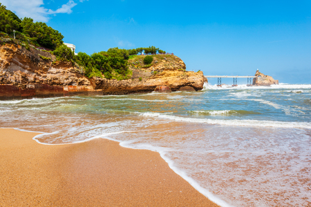 Plage du Port Vieux is a public beach in Biarritz city on the Bay of Biscay on the Atlantic coast in France