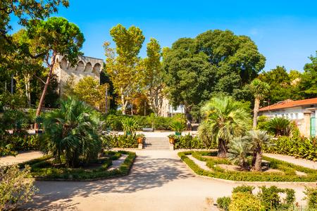 The jardin des plantes de Montpellier is a public botanical garden in Montpellier city, France Stock Photo