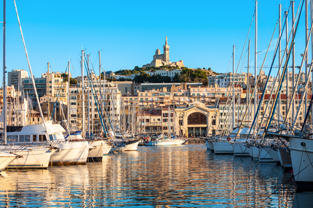 Old Port in Marseille. Marseille is the second largest city of France.