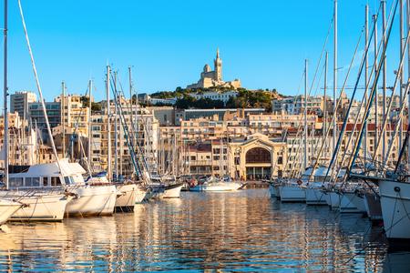 Puerto Viejo de Marsella. Marsella es la segunda ciudad más grande de Francia.