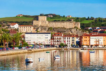 Castle of the King or Castillo del Rey in San Vicente de la Barquera city in Cantabria in northern Spain Redactioneel