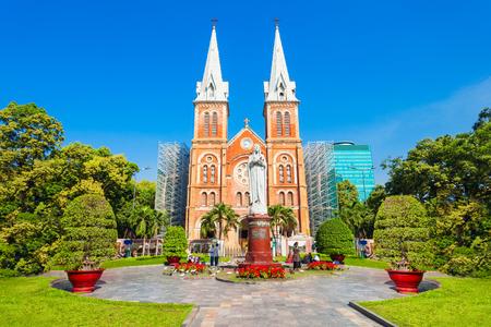 Basilique Cathédrale Notre Dame de Saigon ou Basilique Cathédrale Notre Dame de l'Immaculée Conception à Ho Chi Minh Ville, Vietnam