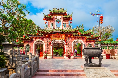 Fukian Assembly Hall or Phuc Kien in the Hoi An ancient town in Quang Nam Province of Vietnam Stock Photo
