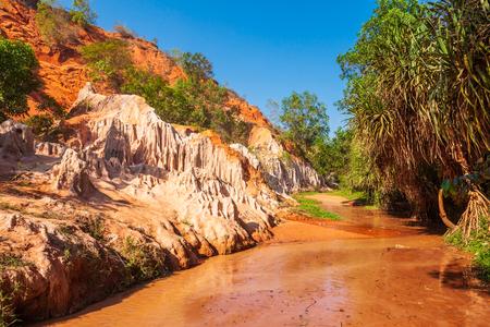 Fairy Stream or Suoi Tien is a small stream hiding behind Mui Ne sand dunes in Phan Thiet in Vietnam