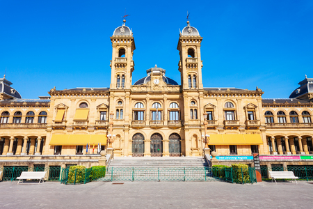 San Sebastian City Hall or Main Library in San Sebastian Donostia city centre, Basque Country in northern Spain Redactioneel