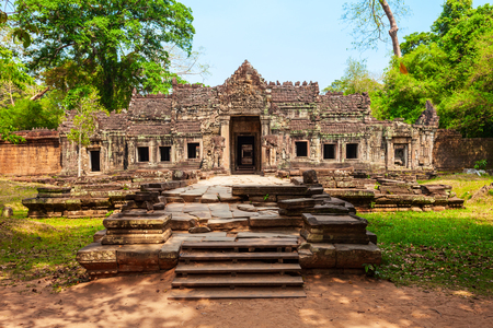 Preah Khan is a temple at Angkor in Cambodia. Preah Khan is located northeast of Angkor Thom temple.