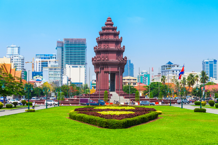 The Independence Monument or Vimean Ekareach in Phnom Penh city, capital of Cambodia Editorial