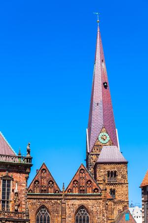 Frauenkirche oder Kirche Unser Lieben Frauen ist eine evangelische Kirche in der Nähe des Marktplatzes in Bremen, Deutschland,