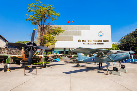 HO CHI MINH, VIETNAM - MARCH 08, 2018: The War Remnants Museum is a war museum in District 3 in Ho Chi Minh City or Saigon in Vietnam 新闻类图片
