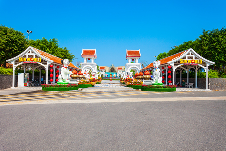 DA NANG, VIETNAM - MARCH 18, 2018: Danang Sun World Asia Park in Da Nang city in Vietnam