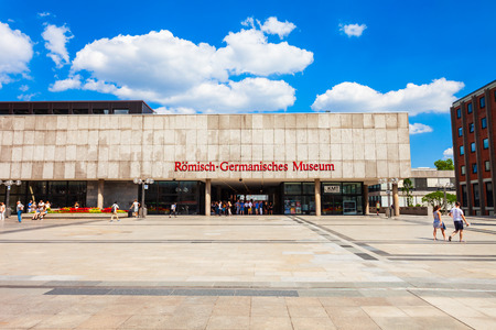 COLOGNE, GERMANY - JUNE 30, 2018: Roman Germanic Museum is an archaeological museum in Cologne, Germany Imagens - 122441241