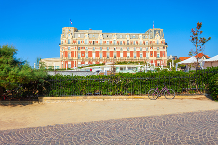 Hotel du Palais is a historical building in the centre of Biarritz city in France Editorial