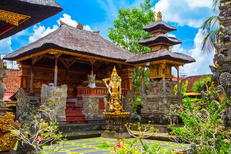 Pura Saraswati temple at the Ubud city in Bali island, Indonesia