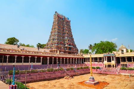 Meenakshi Amman Temple is a historic hindu temple located in Madurai city in Tamil Nadu in India